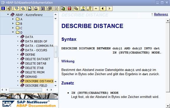 ABAP-Schlüsselwortdokumentation