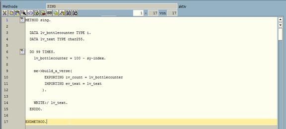 Klassischer ABAP Editor in der SAP GUI