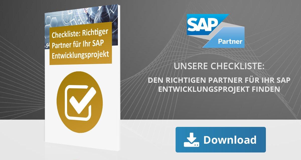 Checkliste: Partner für SAP Entwicklungsprojekte finden