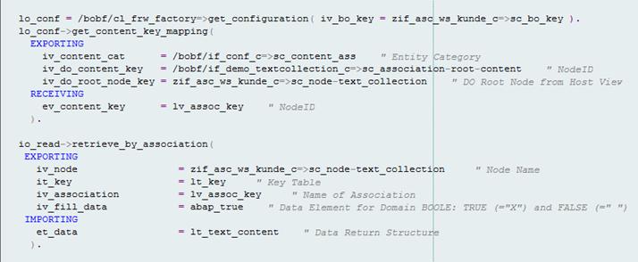 BOPF: Beispielcode für Key-Mapping.