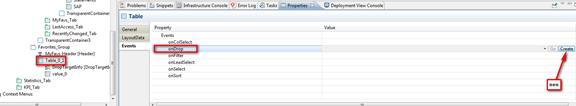 Web Dynpro Java Neue Funktion mit onDrop und create erstellen