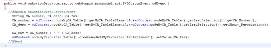 Web Dynpro Java Eintrag auslesen und neuen String setzen