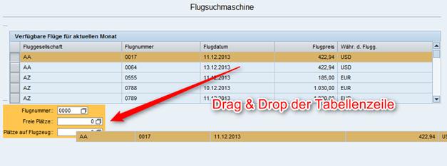 Web Dynpro drag and drop der Tabellenzeile