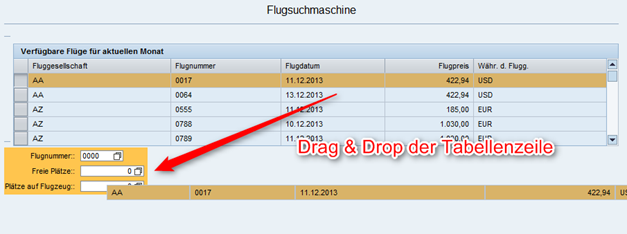Web Dynpro drag and drop der Tabellenzeile