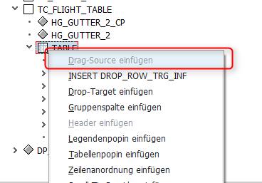 Drag-Source einfügen selektieren