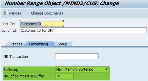 Pufferung des Nummernkreises aktiviert (SAP BOPF)
