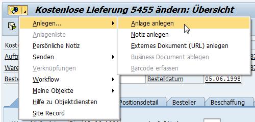 Generische Objektdienste in der SAP GUI