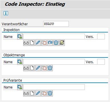 Abbildung 1: Aufruf des Code Inspectors über Transaktion SCI