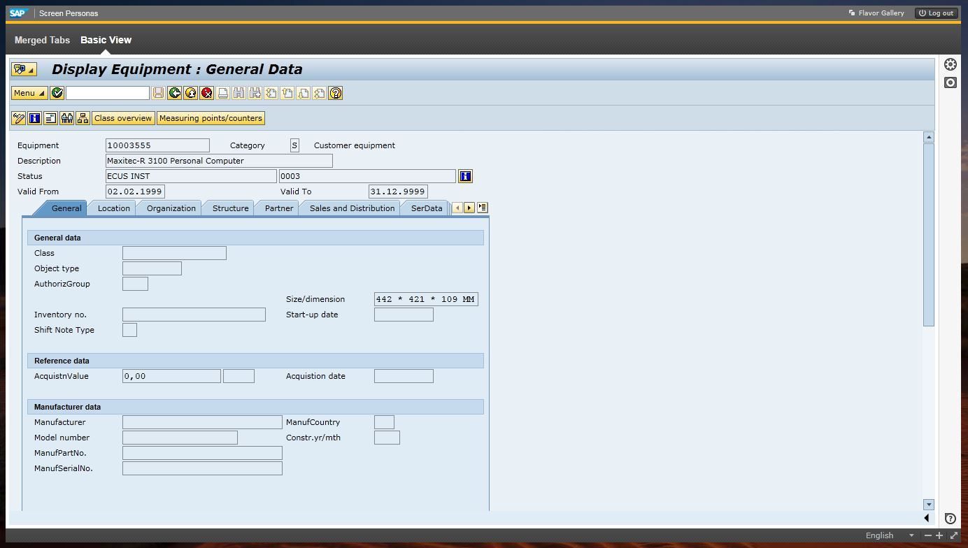Tabs in SAP Screen Personas