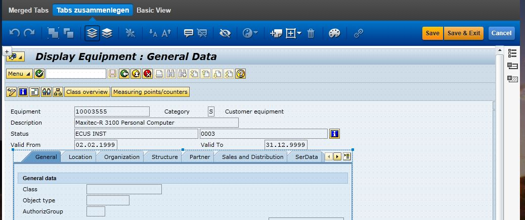 TabControl in SAP Screen Personas