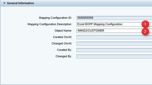 Mapping Configuration Kopfdaten eingeben