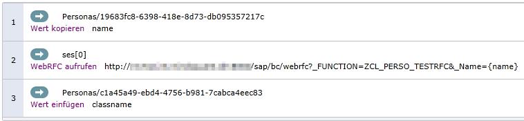 Skript für den WebRFC-Aufruf