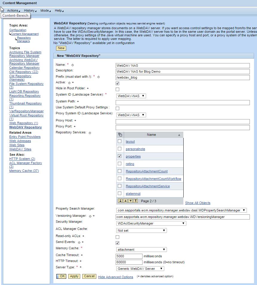 WebDAV Repository