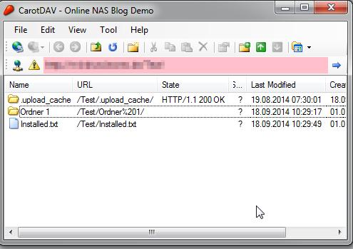 Verzeichnisse mit den Dokumenten über WebDAV einbinden