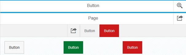 SAPUI5 Theme Designer Blue Crystal Theme Button