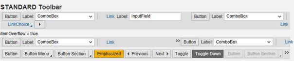 SAPUI5 Theme Designer Platinum Theme Standard Toolbar