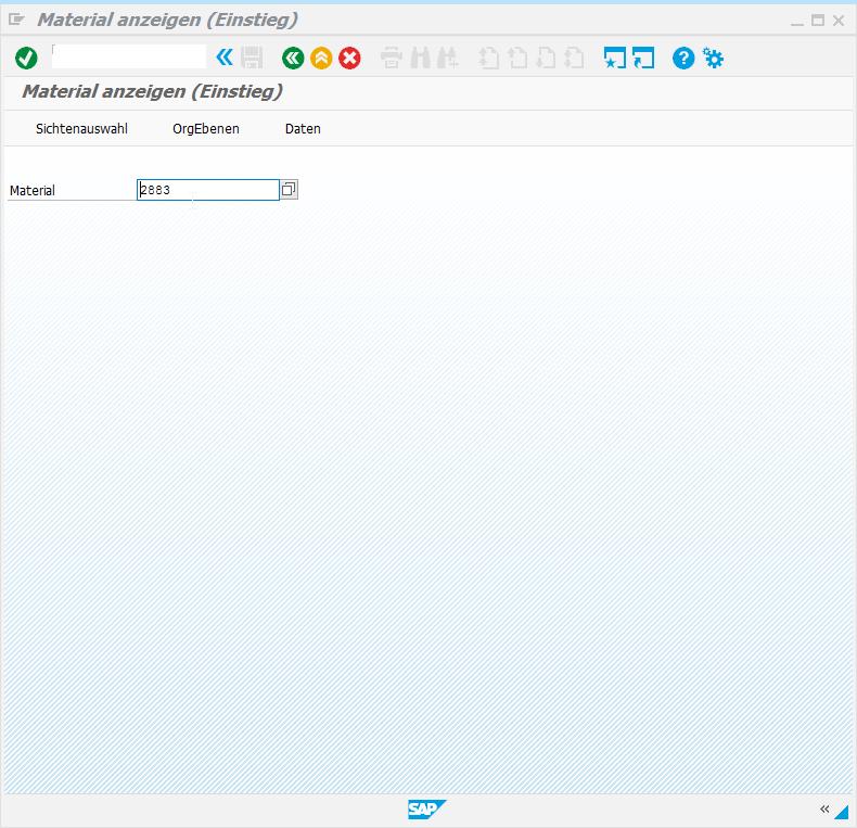 SAP Screen Personas: Material mit sichtbarer Änderung.