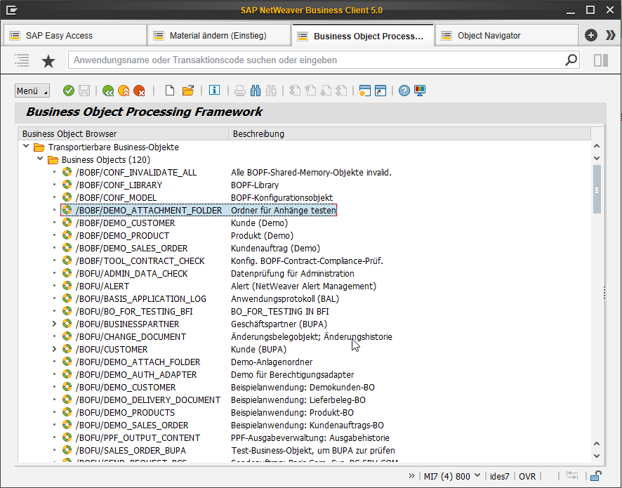 Tabbed Browsing in der SAP GUI