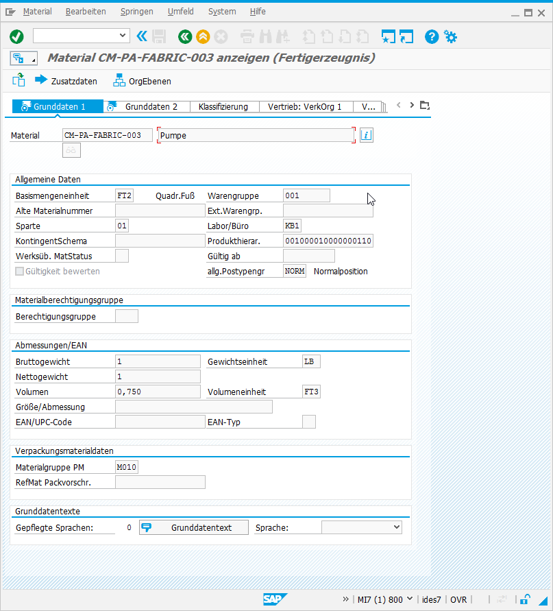 SAP GUI 7.4 in Blue Crystal Farben