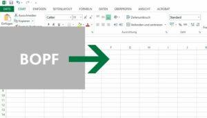 BOPF zu Excel