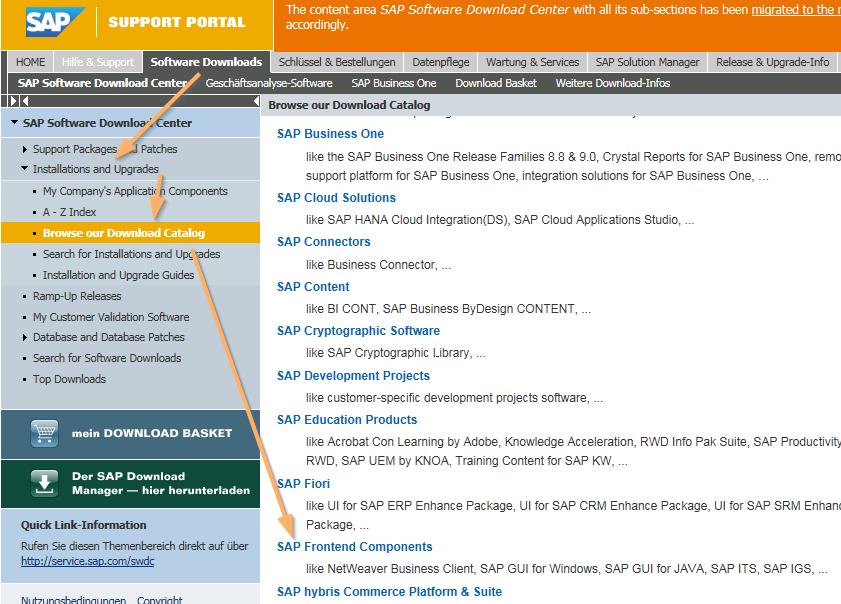 Download des SAP NWBC