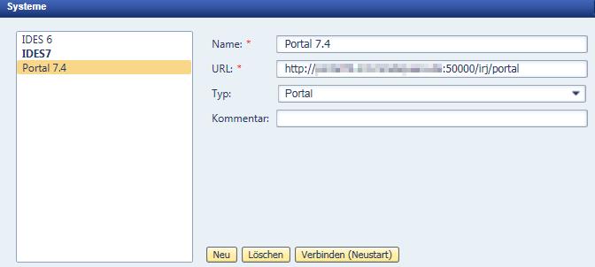 Einrichtung NWBC beim SAP Netweaver Portal.