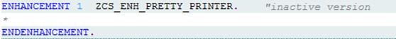 Pretty Printer Quelltext um zwei Zeilen ergänzt
