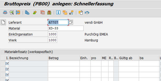 So ändern Sie Konditionen In Sap Mm