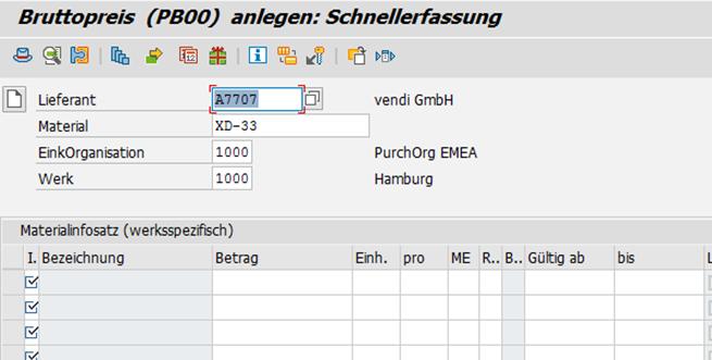 So ndern sie konditionen in sap mm - Sd wert tabelle ...
