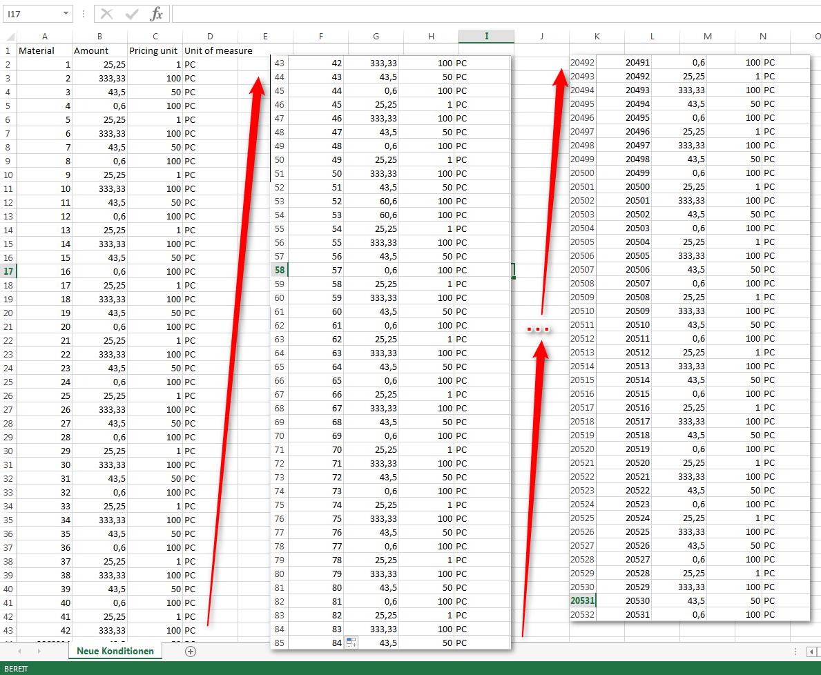 Excel-Upload von CSV-Datei mit neuen Konditionen in das SAP-System