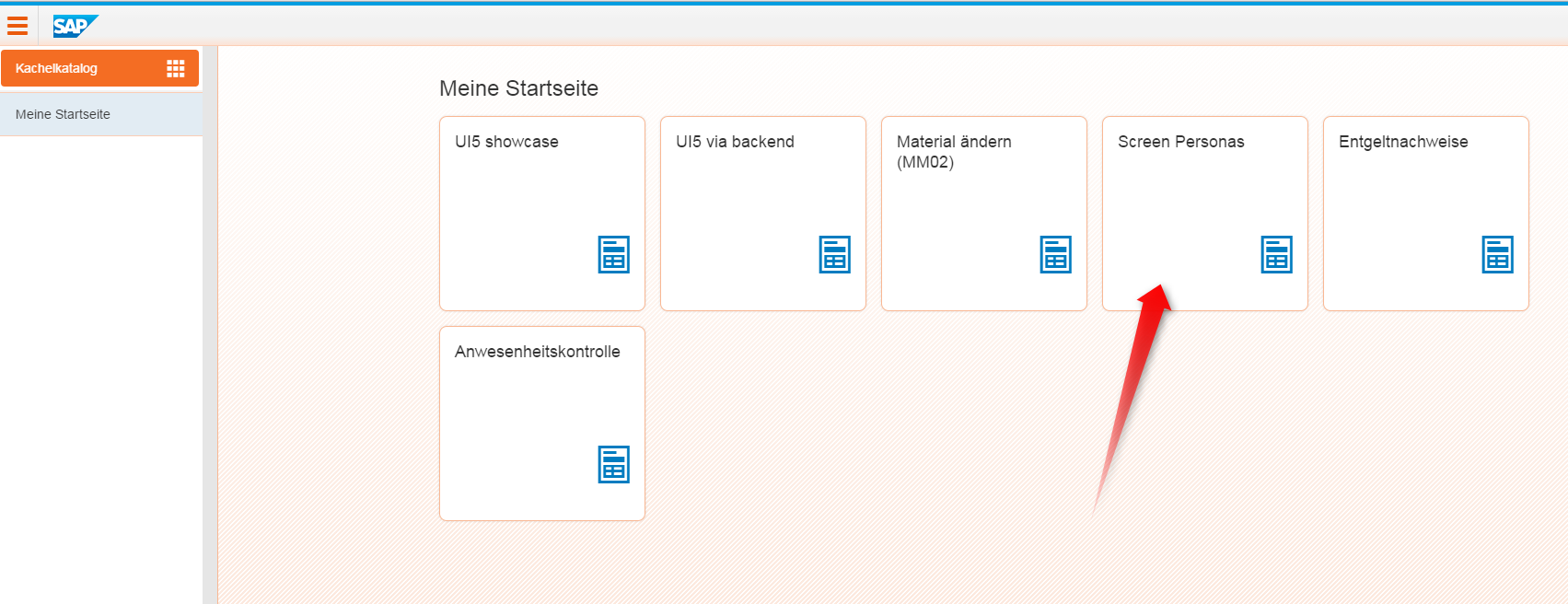 Fiori Framework Page mit SAP Screen Personas