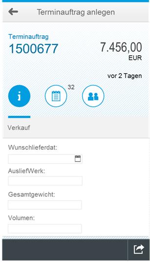 VA01-Auftragserfassung als Apps: Terminauftrag anlegen