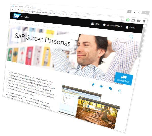 SAP Oberflächen Beispiel: SAP UX Explorer