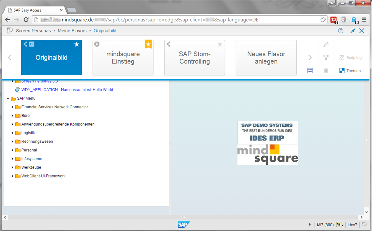 SAP Screen Presonas Flavor Gallery