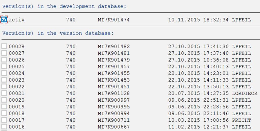 Inline-Versionierung: Versionsverwaltung