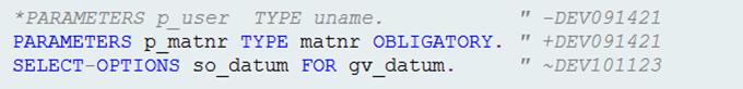 Inline-Versionierung