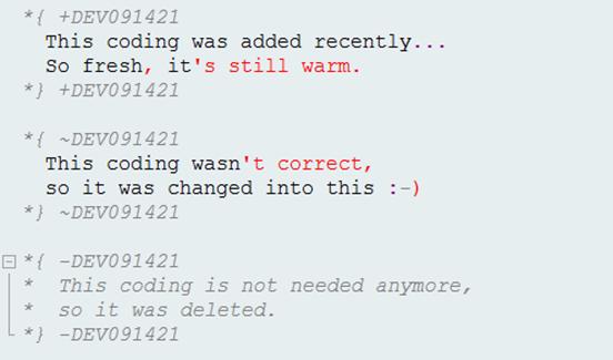 Inline-Versionierung im Block