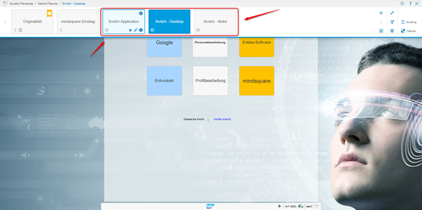 SAP Screen Personas: angelegte Flavors
