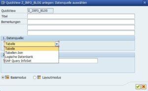 SQVI Datenquelle auswählen