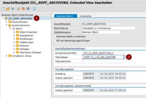 BOPF Archivierung: Einrichten des Statusadapters