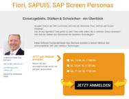 Webinar Fiori, SAPUI5, Screen Personas