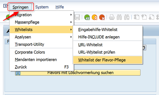 Eintragen des WebRFC Bausteins in die Whitelist der SAP Screen Personas 3.0 Administrationsoberfläche