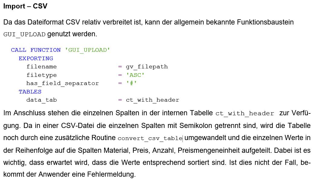 Fließtext in der technischen Dokumentation