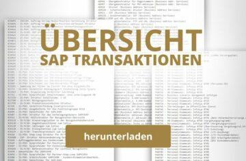 SAP Transaktionen