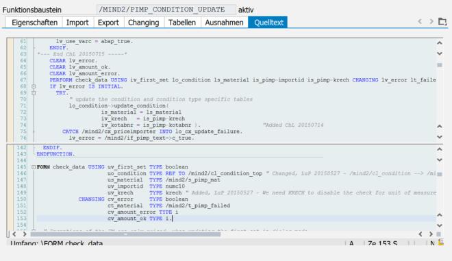 Horizontaler Splitscreen im ABAP-Editor