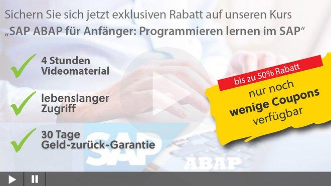 SAP Programmieren für Anfänger
