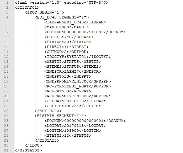 Beispiel IDoc als XML