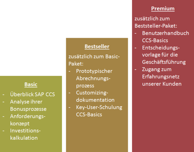 CCS-Kickstarter - Optionen: Basic/Bestseller/Premium