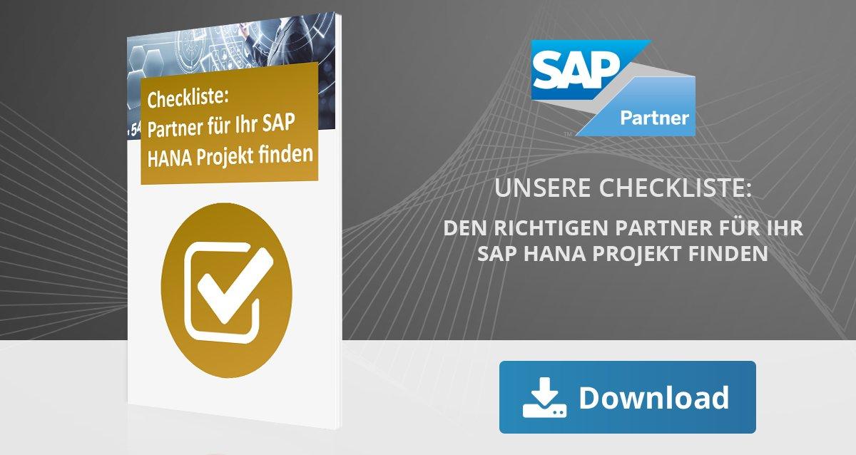 Partner SAP HANA Projekt