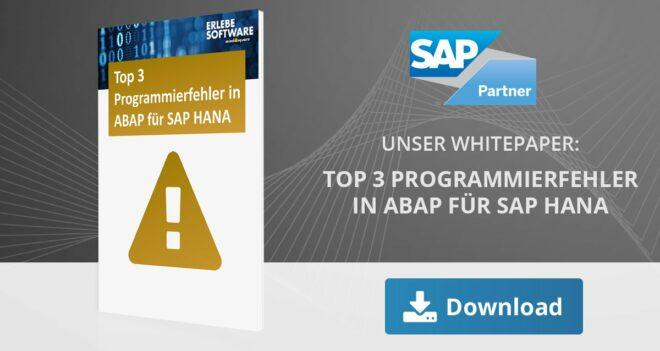 Whitepaper: Top 3 Programmierfehler in ABAP für SAP HANA